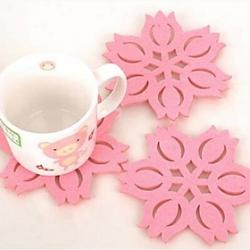 Cheap Lotus Shape Felt Coasters