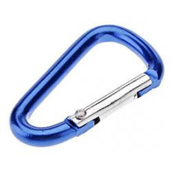 Cheap Mini D Shaped Aluminum Alloy Carabiner(Assorted Colors)