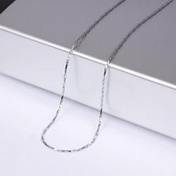 Cheap Unisex 1MM Silver Chain Necklace NO.9