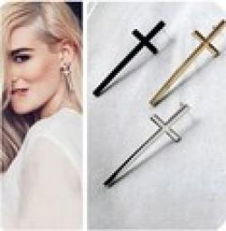 Cheap ES523  Fashion 2014 New Cross Earrings Retro Temperament Wholesales Free Shipping