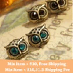 Cheap high quality !!! Fashion vintage owl earrings wholesale