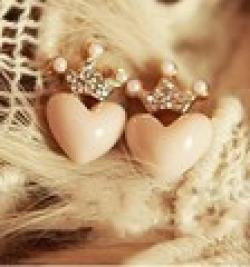 Cheap !Korean jewelry   Fresh crown love all-match Earrings!#994