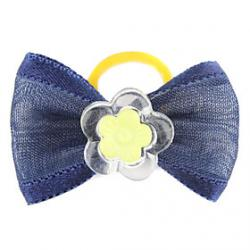 Cheap Simple Flower Style Tiny Rubber Band Hair Bow for Dogs Cats(Assorted Color)