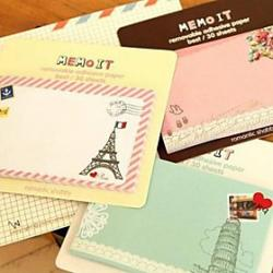 Cheap Vintage Pattern Self-Stick Note(Random Color)