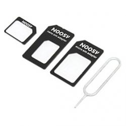 Cheap Nano SIM Card to Micro/Standard SIM Card Adapter Set for iPhone 5 and Others