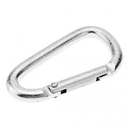 Cheap Small D Shaped Aluminum Alloy Durable Carabiner(Silver)